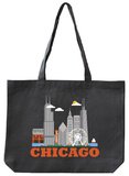 Chicago Asphalt Canvas Tote Tote Bag