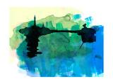Star Ship Watercolor 2 Prints by Lora Feldman