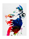 Mahatma Gandhi Watercolor Reproduction giclée Premium par Lora Feldman