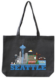 Seattle Asphalt Canvas Tote Tote Bag