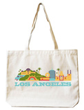 Los Angeles Natural Canvas Tote Tote Bag