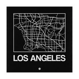 Black Map of Los Angeles Posters by  NaxArt