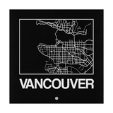 Black Map of Vancouver Posters by  NaxArt