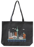 Toronto Asphalt Canvas Tote Tote Bag