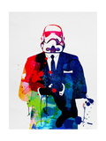 Trooper Boss Watercolor Prints by Lora Feldman