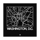 Black Map of Washington, D.C. Posters by  NaxArt