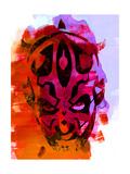 Maul Red Watercolor Poster von Lora Feldman