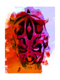 Maul Red Watercolor Poster by Lora Feldman