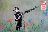 Banksy- Crayon Shooter Prints by Banksy