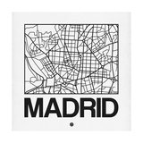 White Map of Madrid Poster by  NaxArt