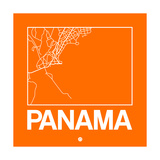 Orange Map of Panama Posters por  NaxArt
