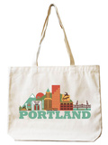 Portland Natural Canvas Tote Tote Bag