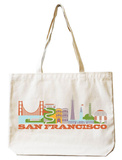 San Francisco Natural Canvas Tote Tote Bag