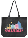 Miami Asphalt Canvas Tote Tote Bag