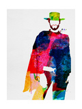 Man with No Name Watercolor Poster di Lora Feldman