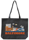 Baltimore Asphalt Canvas Tote Tote Bag