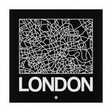 Black Map of London Premium Giclee Print by  NaxArt