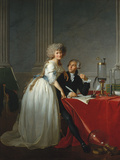 Portrait of Antoine-Laurent Lavoisier and his Wife Collectable Print by Jacques-Louis David