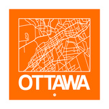 Orange Map of Ottawa Posters by  NaxArt