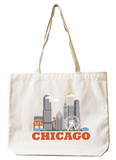 Chicago Natural Canvas Tote Tote Bag