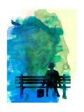 Forrest Watercolor 1 Poster by Lora Feldman