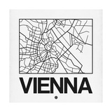White Map of Vienna Posters by  NaxArt