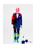 C-3PO in a Suit Watercolor Poster by Lora Feldman