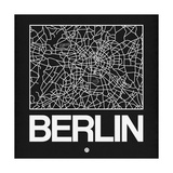 Black Map of Berlin Posters by  NaxArt