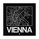 Black Map of Vienna Art by  NaxArt