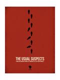 Die üblichen Verdächtigen, Englisch Poster von David Brodsky