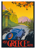 Visit Greece by Auto - Automobile and Touring Club of Greece Prints by  Pacifica Island Art