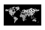 Typography World Map 6 Print by  NaxArt