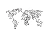 World Wire Map 2 Plakater av  NaxArt