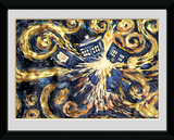 Doctor Who- Van Gogh Exploding Tardis Collector Print