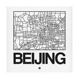 White Map of Beijing Posters by  NaxArt