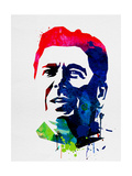 Ronald Reagan Watercolor Posters by Lora Feldman