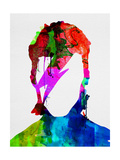 Lora Feldman - David Watercolor Portrait - Poster