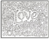 Garden of Love DIY Coloring Wall Plaque Wood Sign
