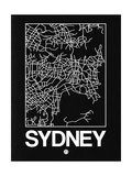 Black Map of Sydney Posters by  NaxArt