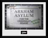 Batman- Arkham Asylum Sign Stampa del collezionista