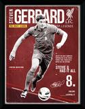 Liverpool- Gerrard Retro Wydruk kolekcjonerski
