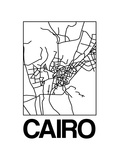 White Map of Cairo Posters by  NaxArt