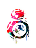 BB8 Watercolor 1 Art by Lora Feldman