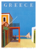 Greece - Island of Hydra Art by Yiannis Moralis