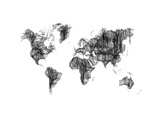 World Map Drawing 1 Prints by  NaxArt