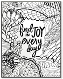 Find Joy in Every Day DIY Coloring Wall Plaque Wood Sign