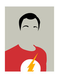 Sheldon Portrait Kunstdrucke von David Brodsky