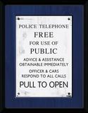 Doctor Who- Tardis Police Sign Collector Print