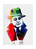 Al Capone Watercolor Prints by Lora Feldman