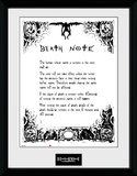 Death Note- Contract(Framed Memorabilia) Collector-tryk